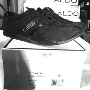 Coach black sneakers
